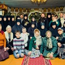 Рождество 2016 год Свято-Елисаветинский монастырь Запорожская область, Ореховский район, пгт Камышеваха