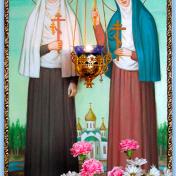 Икона Святой преподобномученицы великой княгини Елисаветы и Святой преподобномученицы инокини Варвары Свято-Елисаветинский женский монастырь