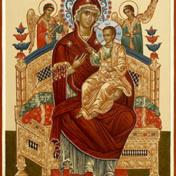 икона БМ Всецарица Свято-Елисаветинский монастырь Украина, Запорожская область, Ореховский район, пгт Камышева
